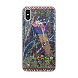 """Чехол для iPhone X, объёмная печать """"Баба Яга (Иван Билибин)"""" - сказка, живопись, билибин, картина"""