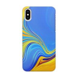 "Чехол для iPhone X/XS, объёмная печать ""Art Streaks Four"" - цвета, краски, искусство, тренд"