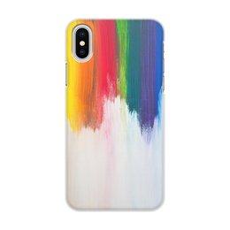 """Чехол для iPhone X/XS, объёмная печать """"Rainbow"""" - любовь, радуга, счастье, радость, легкость"""