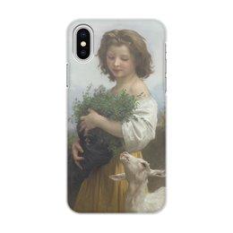 """Чехол для iPhone X/XS, объёмная печать """"Юная Эсмеральда (картина Вильяма Бугро)"""" - картина, академизм, живопись, бугро, крестьянка"""