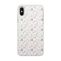 """Чехол для iPhone X/XS, объёмная печать """"Единороги"""" - животные, лошадь, радуга, мульт, единорог"""