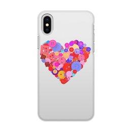 """Чехол для iPhone X/XS, объёмная печать """"День всех влюбленных"""" - любовь, день святого валентина, валентинка, i love you, день влюбленных"""