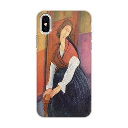 """Чехол для iPhone X, объёмная печать """"Жанна Эбютерн (Амедео Модильяни)"""" - арт, оно, живопись, модильяни, картина"""