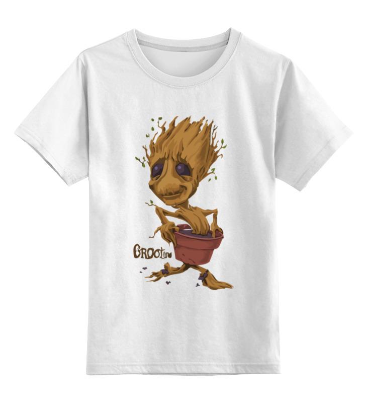 Детская футболка классическая унисекс Printio Грут (стражи галактики) цена и фото