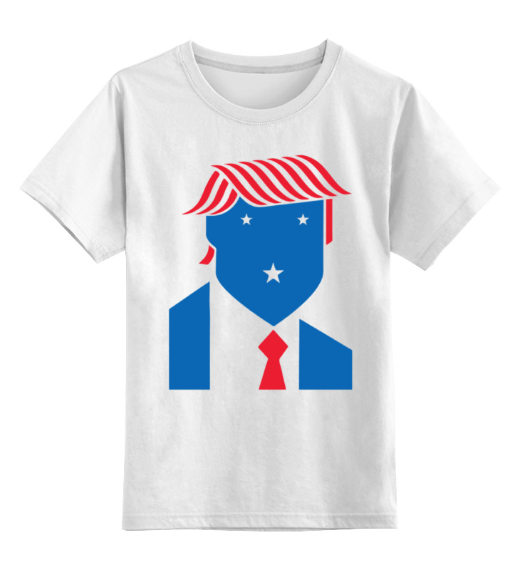 Детская футболка классическая унисекс Printio Дональд трамп