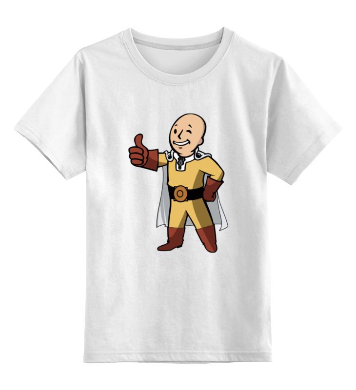Детская футболка классическая унисекс Printio Сайтама (фэллаут) цена и фото