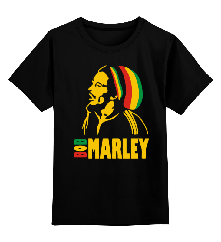 Детская футболка классическая унисекс Printio Боб марлей (bob marley)