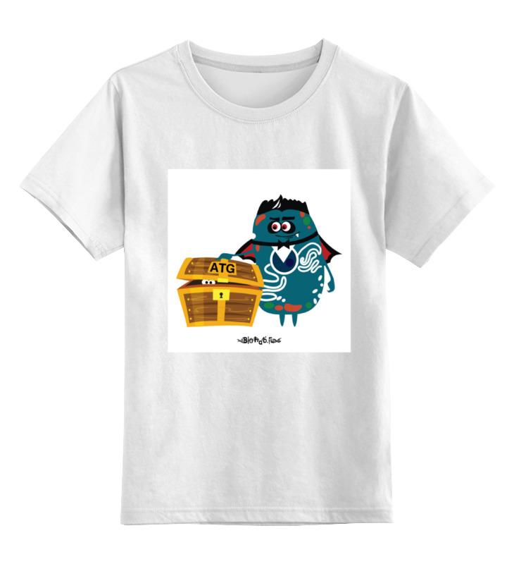 Детская футболка классическая унисекс Printio Atg гены футболка без баб как у гены букина