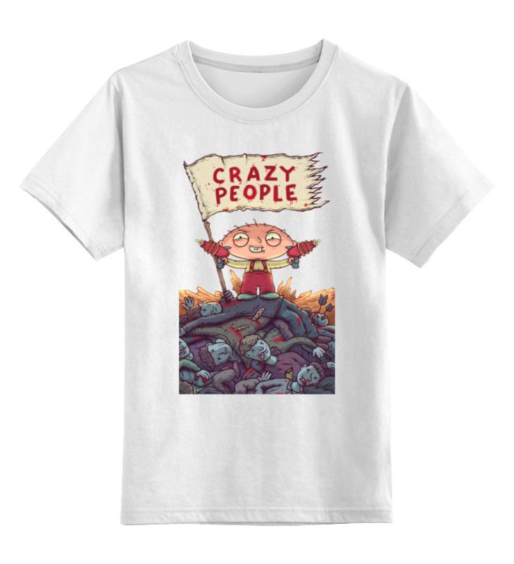 Детская футболка классическая унисекс Printio Crazy people детская футболка классическая унисекс printio polite people 2014 by k karavaev