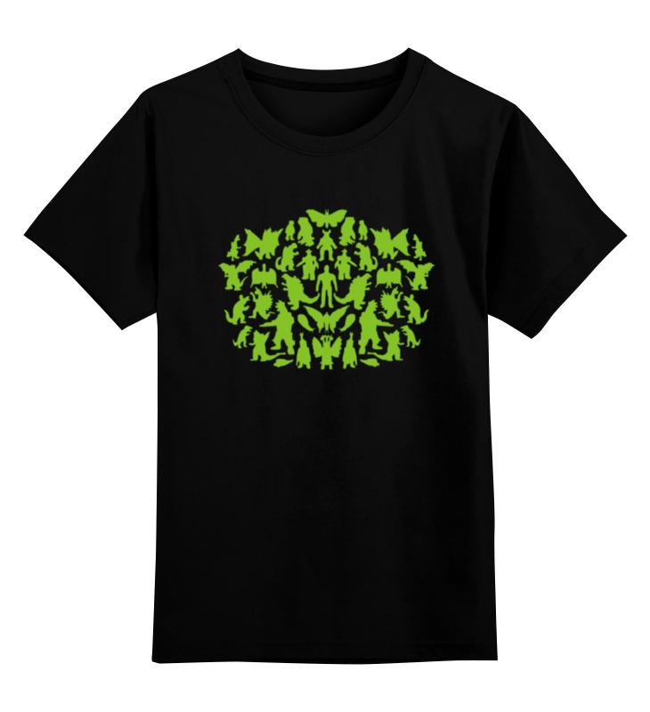 цены Детская футболка классическая унисекс Printio Шелдон купер - зеленые монстры