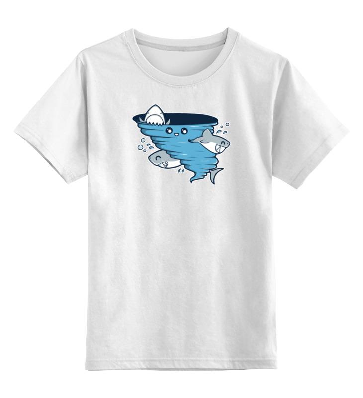 Детская футболка классическая унисекс Printio Водоворот акул футболка рингер printio водоворот акул