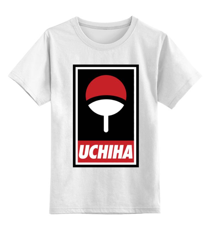 Детская футболка классическая унисекс Printio Клан учиха (наруто) ку клукс клан колпак