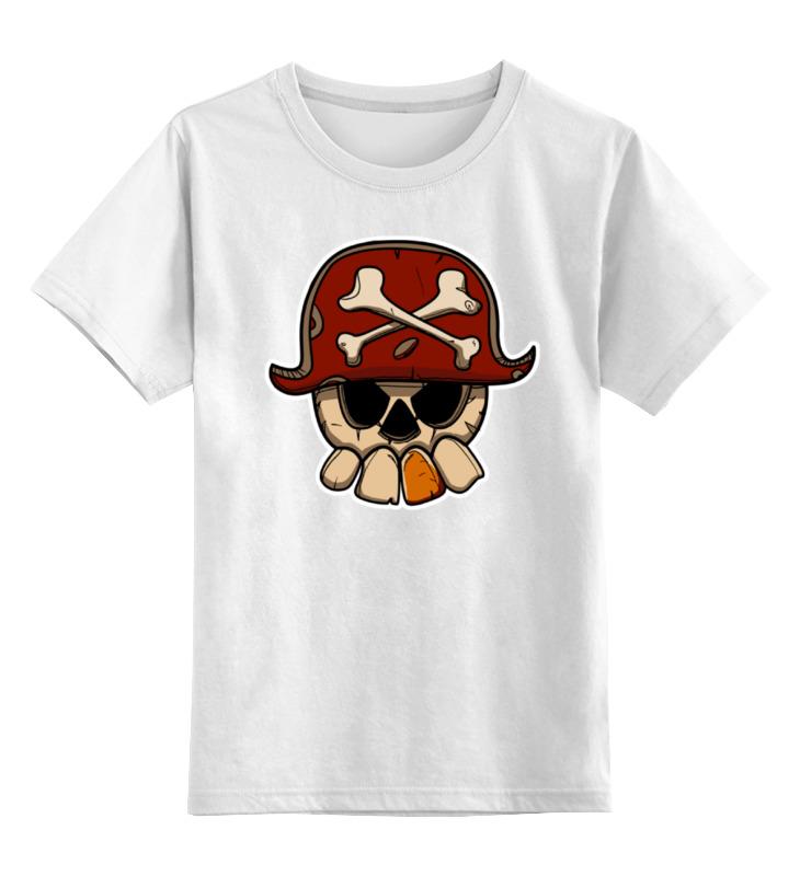 Детская футболка классическая унисекс Printio Череп пирата детская футболка классическая унисекс printio мотобайк