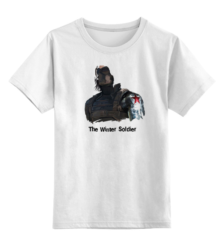 Детская футболка классическая унисекс Printio Зимний солдат