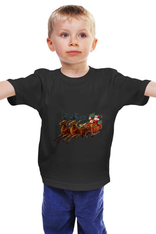 Детская футболка классическая унисекс Printio Санта клаус украшение snowhouse санта клаус snt hd 01