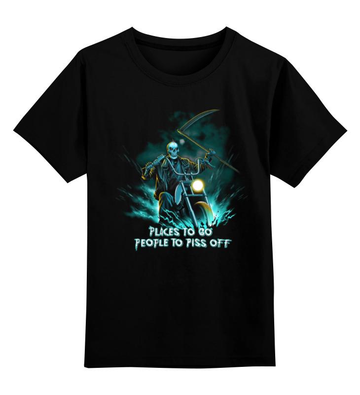 Детская футболка классическая унисекс Printio Skull rider детская футболка классическая унисекс printio skull trooper