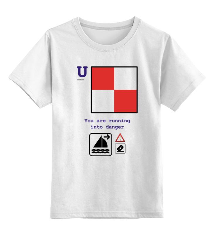 Детская футболка классическая унисекс Printio Uniform (u), флаг мсс (eng) for girl майка классическая printio uniform u флаг мсс eng for girl