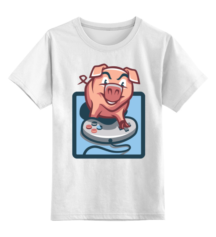 Детская футболка классическая унисекс Printio Свинья геймер детская футболка классическая унисекс printio свинья пират