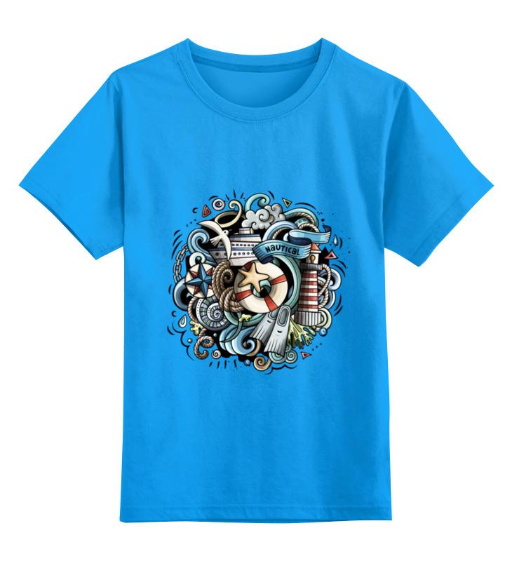 Детская футболка классическая унисекс Printio Морская блузка детская barkito морская принцесса голубая
