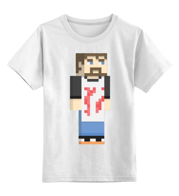 Детская футболка классическая унисекс Printio Винтаж биф (майнкрафт) детская футболка классическая унисекс printio майнкрафт