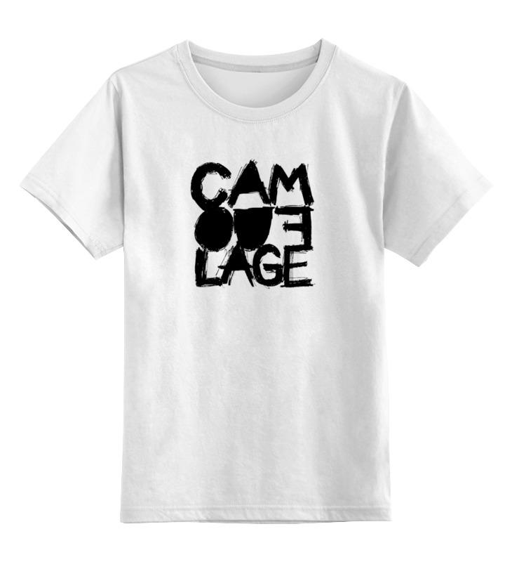 Детская футболка классическая унисекс Printio Camouflage band logo