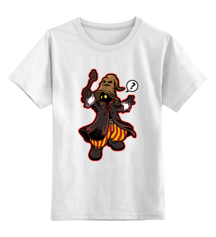 Детская футболка классическая унисекс Printio Black mage (final fantasy) цена