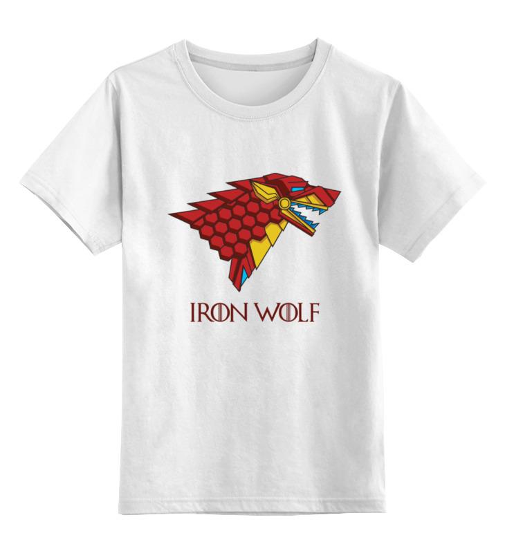 Детская футболка классическая унисекс Printio Iron wolf (stark x iron man) аксессуар защитное стекло huawei nova 2i zibelino tg full screen white 0 33mm 2 5d ztg fs hua nov2i wht