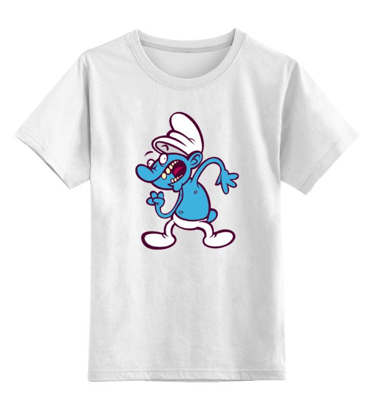 Детская футболка классическая унисекс Printio Смурф гномик папа смурф schleich
