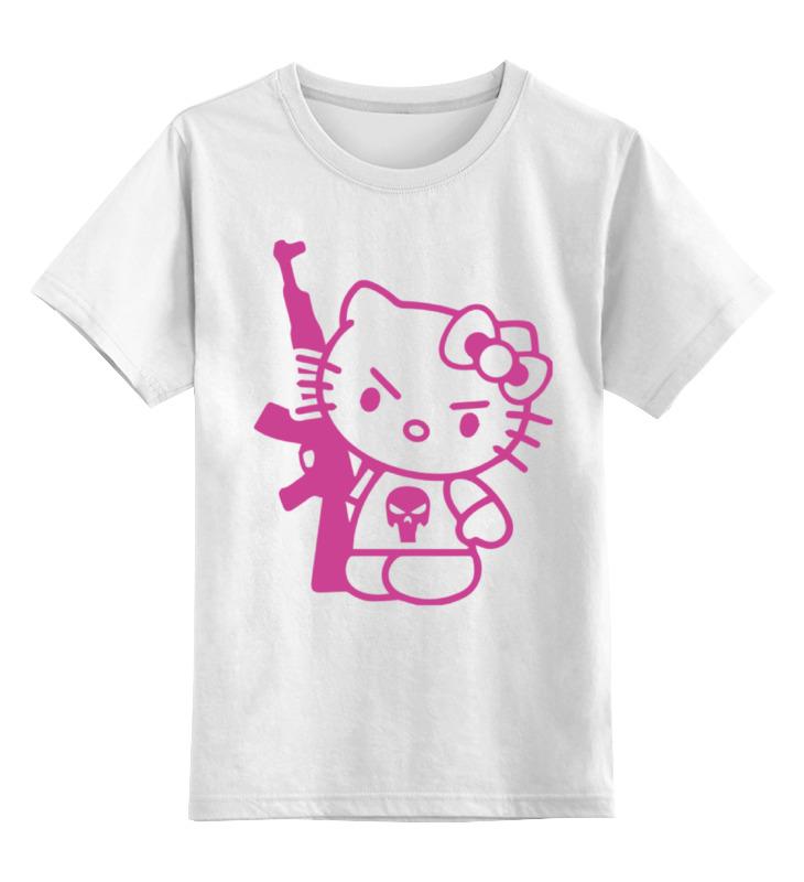 Детская футболка классическая унисекс Printio Hello kitty ak-47 набор карандашей hello kitty 36 hb