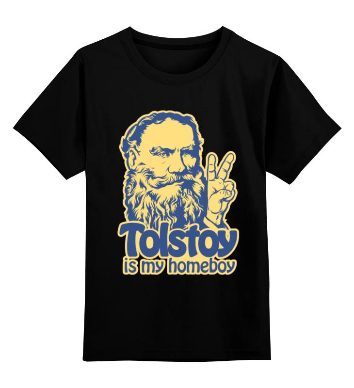 Детская футболка классическая унисекс Printio Толстой мой кориш! лонгслив printio толстой мой кориш