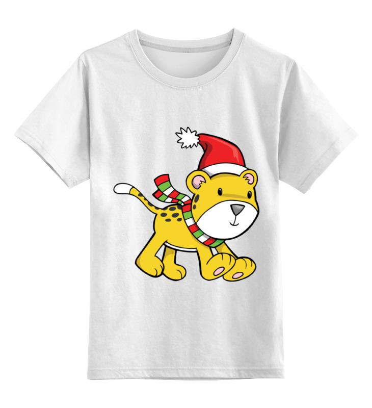 Детская футболка классическая унисекс Printio Львенок новый год цена