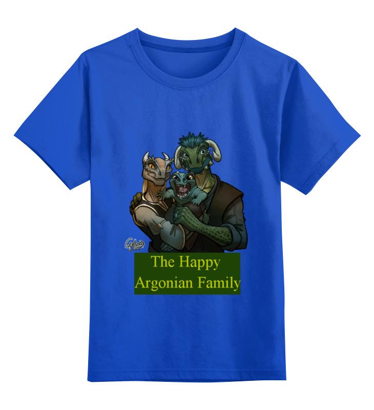 Детская футболка классическая унисекс Printio The happy argonian family