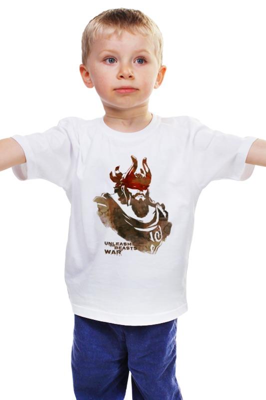 Детская футболка классическая унисекс Printio Dota 2 beastmaster (with text) детская футболка классическая унисекс printio text