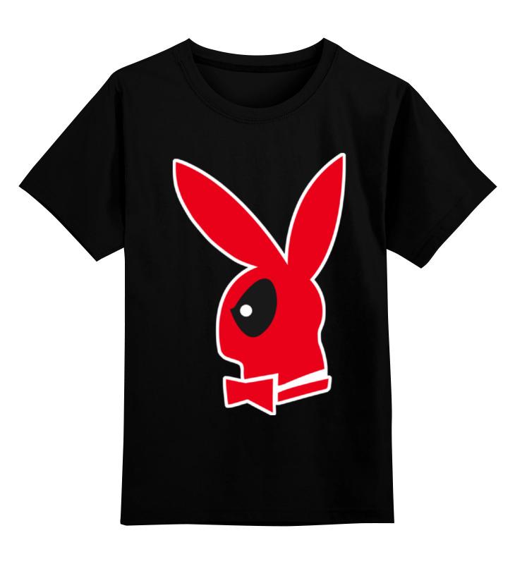 Детская футболка классическая унисекс Printio Дэдпул плейбой