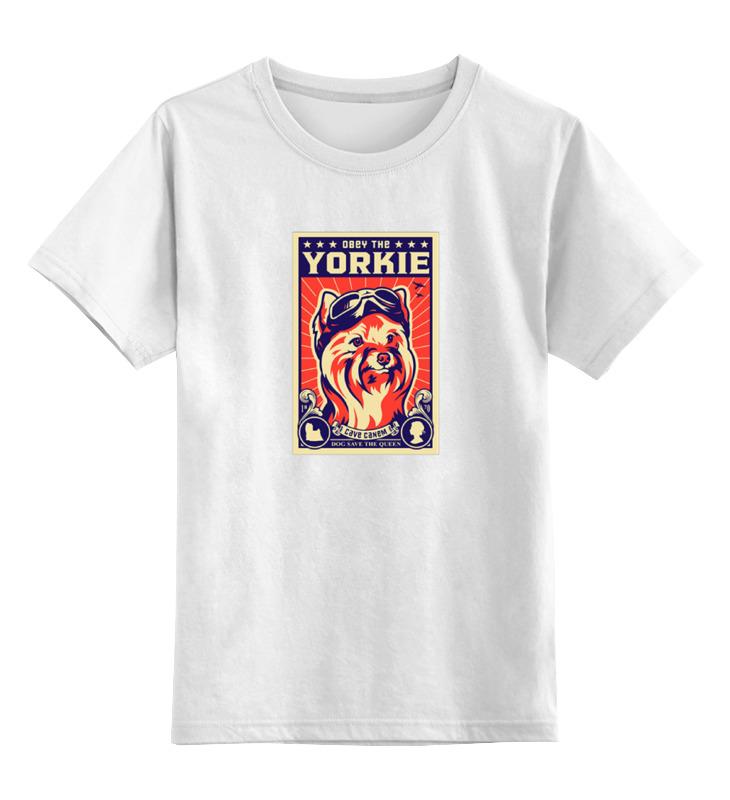 цена Детская футболка классическая унисекс Printio Собака: yorkie