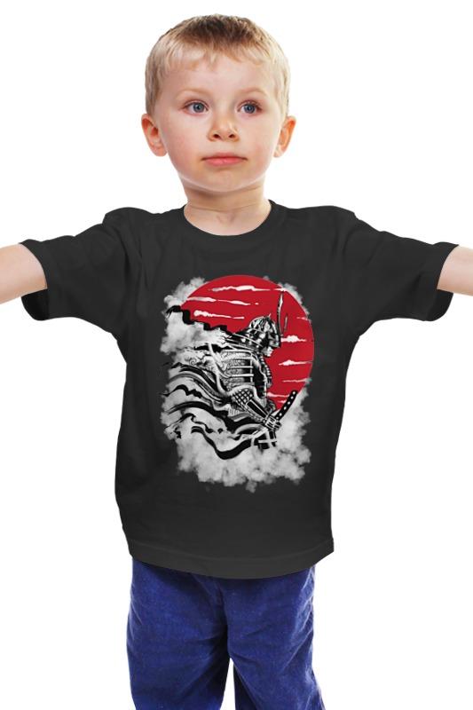 Детская футболка классическая унис��кс Printio Самурай как парашут в кс