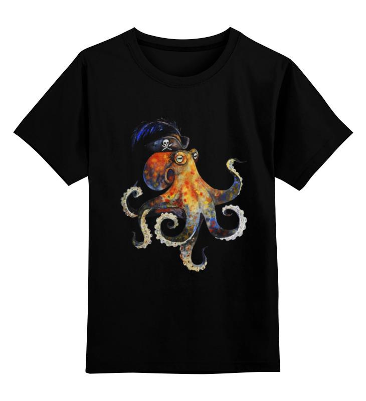 Детская футболка классическая унисекс Printio Пиратский осьминог майка классическая printio пиратский осьминог