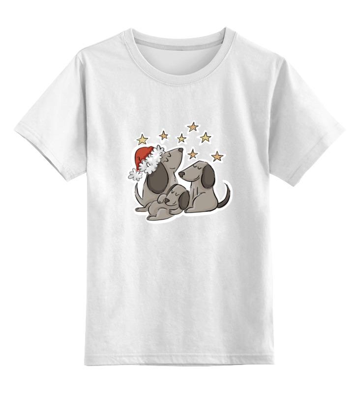 Детская футболка классическая унисекс Printio Спящие собачки цена и фото