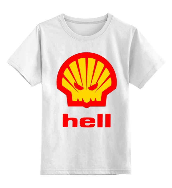 Детская футболка классическая унисекс Printio Hell (ад) agip масло моторное в краснодаре