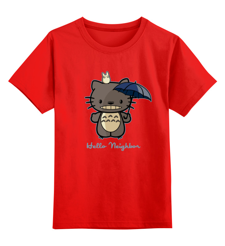 цена Детская футболка классическая унисекс Printio Hello neighbor