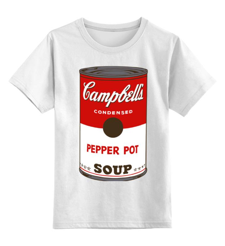 Детская футболка классическая унисекс Printio Campbell's soup (энди уорхол) soup