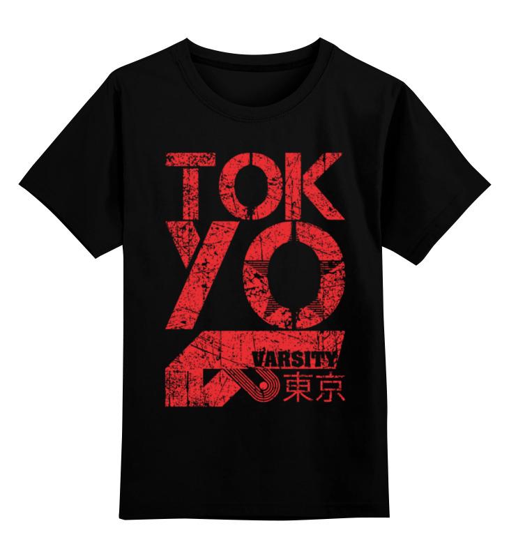 Детская футболка классическая унисекс Printio Tokyo varsity cowl neck varsity stripe color block sweater