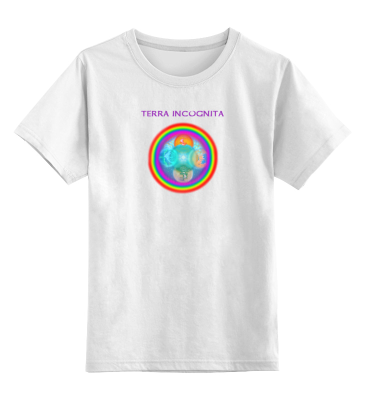 цена на Детская футболка классическая унисекс Printio Terra incognita.