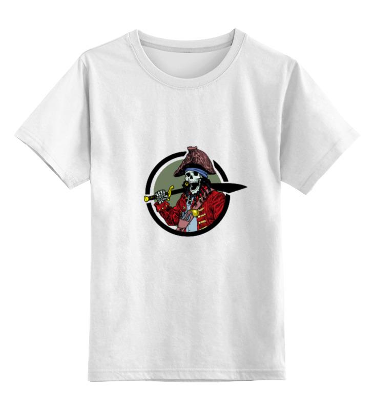 Детская футболка классическая унисекс Printio Пират асеева и пират ищет клад