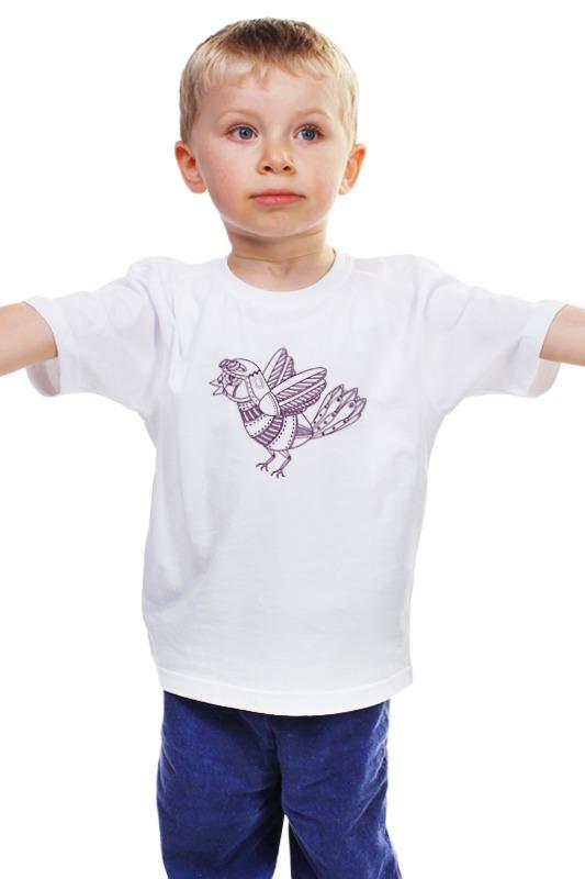 Детская футболка классическая унисекс Printio Механический воробей