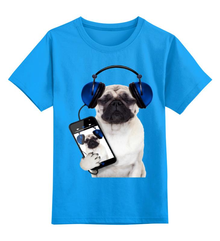 Детская футболка классическая унисекс Printio Собака мопс домперидон таб п о 10мг 30