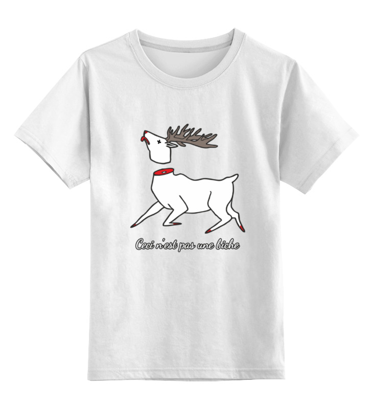 Детская футболка классическая унисекс Printio Это не олень - ceci 'est pas une biche