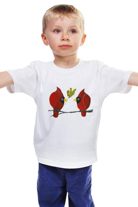 Детская футболка классическая унисекс Printio Свидание на ветке евгения перышкина встретились две половинки