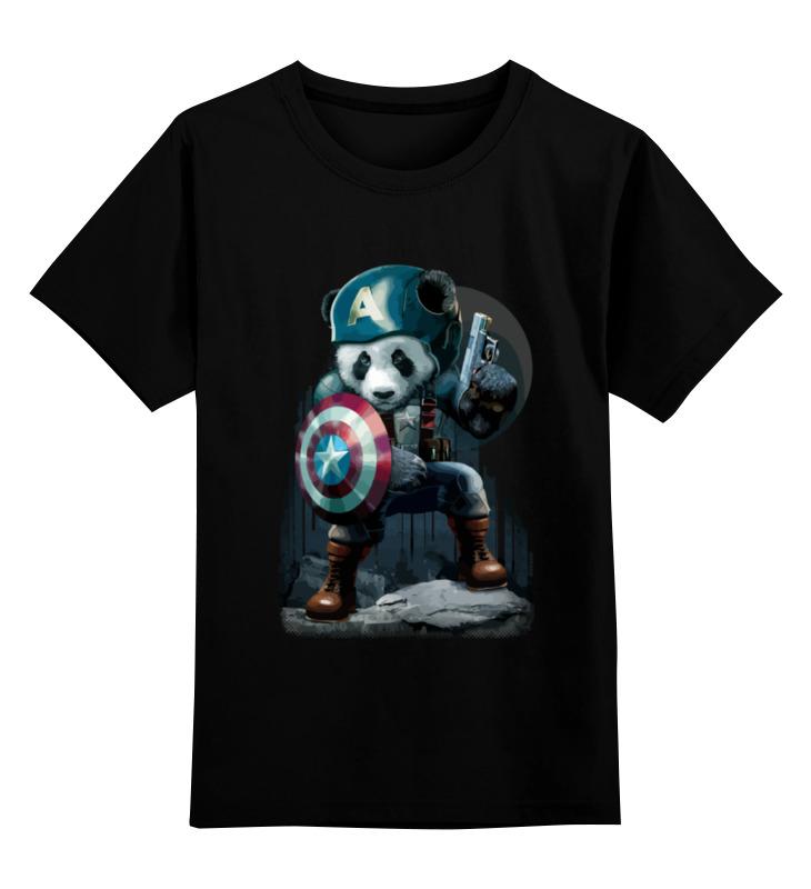 Детская футболка классическая унисекс Printio Капитан панда детская футболка классическая унисекс printio красная панда