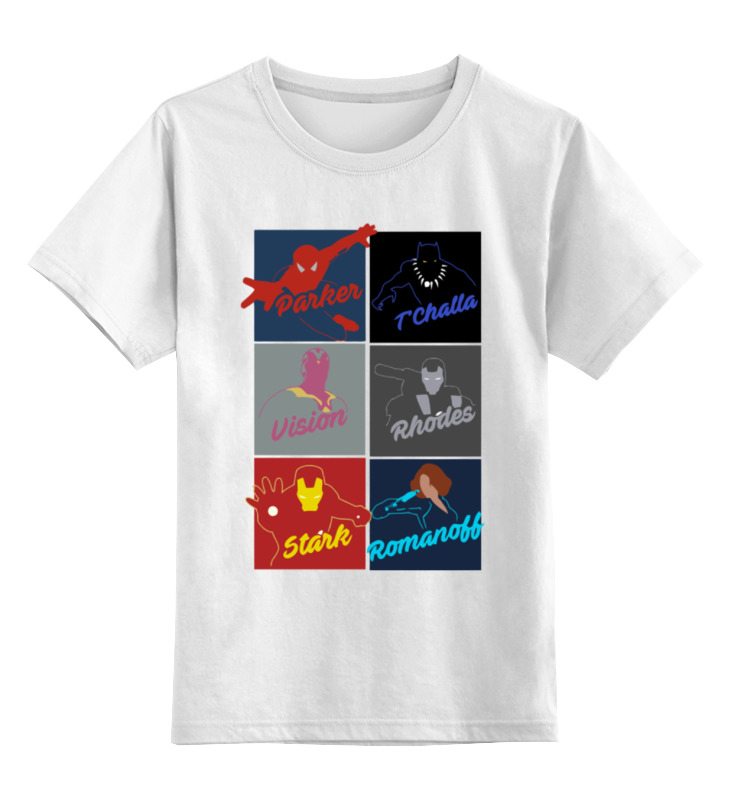 Детская футболка классическая унисекс Printio Супергерои комиксов чехол для iphone 7 глянцевый printio супергерои комиксов